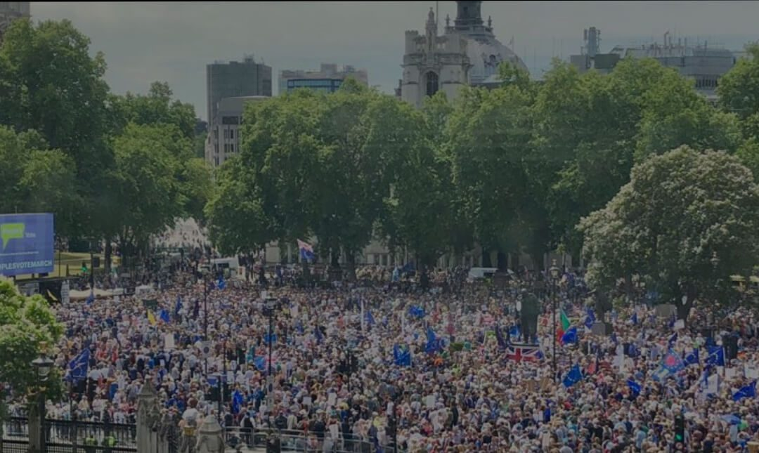The People's Vote campaign is anything but a politicians' thing, Mrs May. The people are finding out the politicians just in time