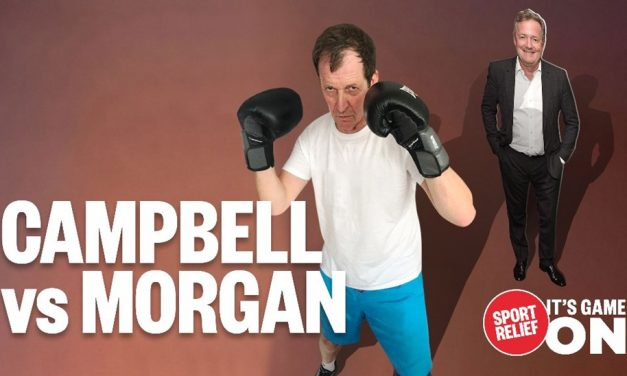 Sport relief time folks – give generously in return for me knocking out Piers Morgan!!