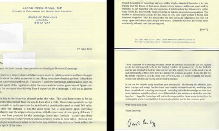 PART 7, ANALYSIS Tory MP letters re cummings – rees-mogg and david davis late contenders for major BULLSHIT, CRAWLING AND BAD GRAMMAR prizes!